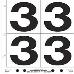 "5"" Number 3"