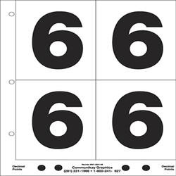 "5"" Number 6"