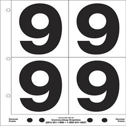 "5"" Number 9"
