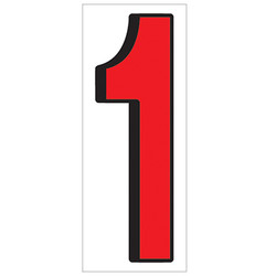 """18"""" Red and Black Number 1"""