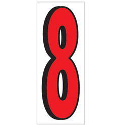 "18"" Red and Black Number 8"