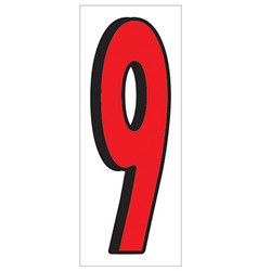"18"" Red and Black Number 9"