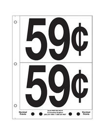"""5"""" Pre-priced 59¢"""