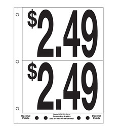 """5"""" Pre-priced $2.49"""