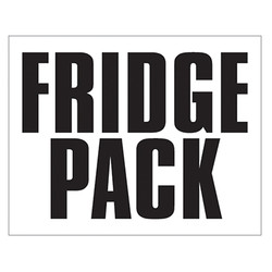 Small Banner Label - Fridge Pack