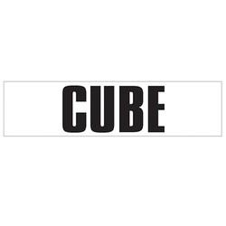 Medium Banner Label - Cube