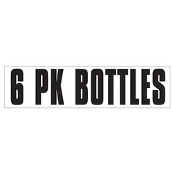Medium Banner Label - 6 Pk Bottles