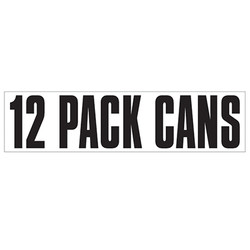 Medium Banner Label - 12 Pack Cans