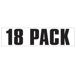 Medium Banner Label - 18 Pack