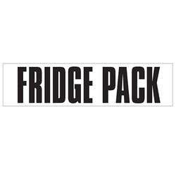 Medium Banner Label - Fridge Pack