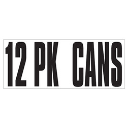 Large Banner Label - 12 Pack Cans
