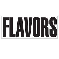 Large Banner Label - Flavors