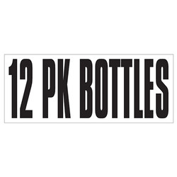 Large Banner Label - 12 Pack Bottles