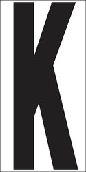 "9"" Letter K"