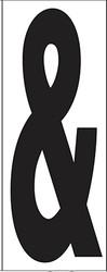 "9"" Letter & (Ampersand)"