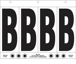 """6"""" Letter B - 4/sht"""