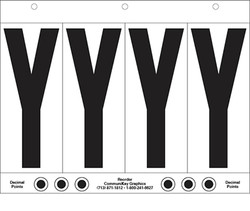"6"" Letter Y - 4/sht"