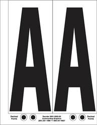 """9"""" Letter A - 2/sht"""