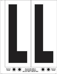 "9"" Letter L - 2/sht"