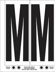 "9"" Letter M - 2/sht"