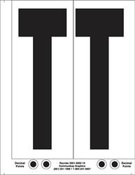 "9"" Letter T - 2/sht"