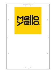 "Exterior Pole Sign - 31"" x 47"" Mello Yello"