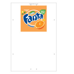 "Exterior Pole Sign - 32"" x 48"" Fanta"