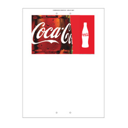 "Mini Pole Sign - 24"" x 32"" Coke"