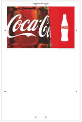 "Exterior Pole Sign - 32"" x 48"" Coke"