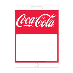 "Paper Pole Sign - 16"" x 23"" Coke"