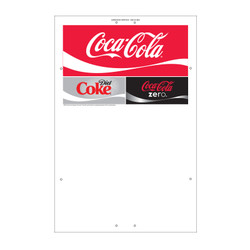 "Exterior Pole Sign - 32"" x 48"" Coke/Diet Coke/Coke Zero"