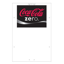 "Exterior Pole Sign - 32"" x 48"" Coke Zero"