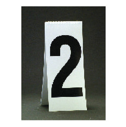 "11 1/8"" Spiral Number Dollar Pad - White"