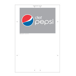 "Exterior Pole Sign - 32"" x 48"" Diet Pepsi"
