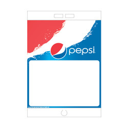 "Paper Pole Sign - 16"" x 23"" Pepsi First"