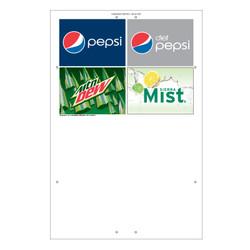 """Exterior Pole Sign - 32"""" x 48"""" Pepsi Quad Brands"""