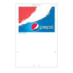 "Exterior Pole Sign - 32"" x 48"" Pepsi First"