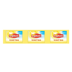 Lipton Iced Tea Runner Tags on a Roll