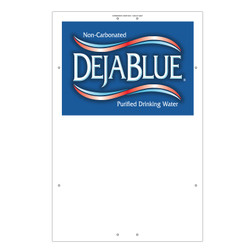 "Exterior Pole Sign - 32"" x 48"" Deja Blue"