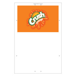 "Exterior Pole Sign - 32"" x 48"" Orange Crush"
