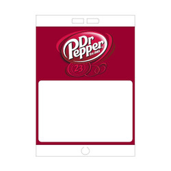 "Paper Pole Sign - 16"" x 23"" Dr Pepper"