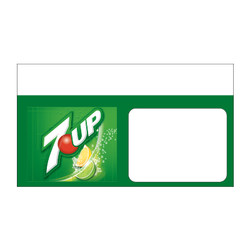 "Shelf talker - 10"" x 6.25"" 7UP"