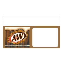 "Shelf talker - 10"" x 6.25"" A&W"