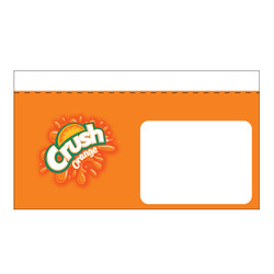 "Shelf talker - 10"" x 6.25"" Orange Crush"