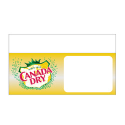 "Shelf talker - 10"" x 6.25"" Canada Dry"