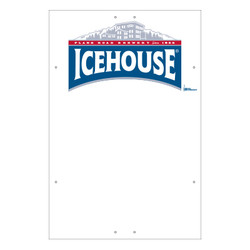 "Exterior Pole Sign - 32"" x 48"" Icehouse"