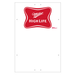 "Exterior Pole Sign - 32"" x 48"" Miller High Life"
