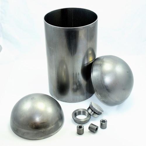 """5"""" dia diy weld together domed end oil tank kit"""