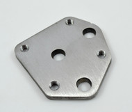 mid control kickstand mounting plate for early and softail chassis
