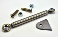 stainless brake stay kit with weld on tab and stainless steel heim joints